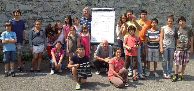 Un momento del laboratorio con i ragazzi di Chiasso (estate 2013)