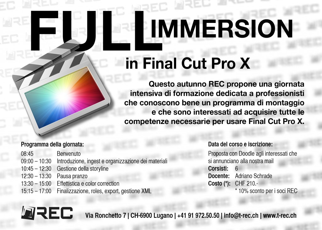 FCP X Full immersion